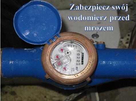 W związku ze zbliżającą się zimą, przypominamy o odpowiednim zabezpieczeniu wodomierza przed zamarznięciem.