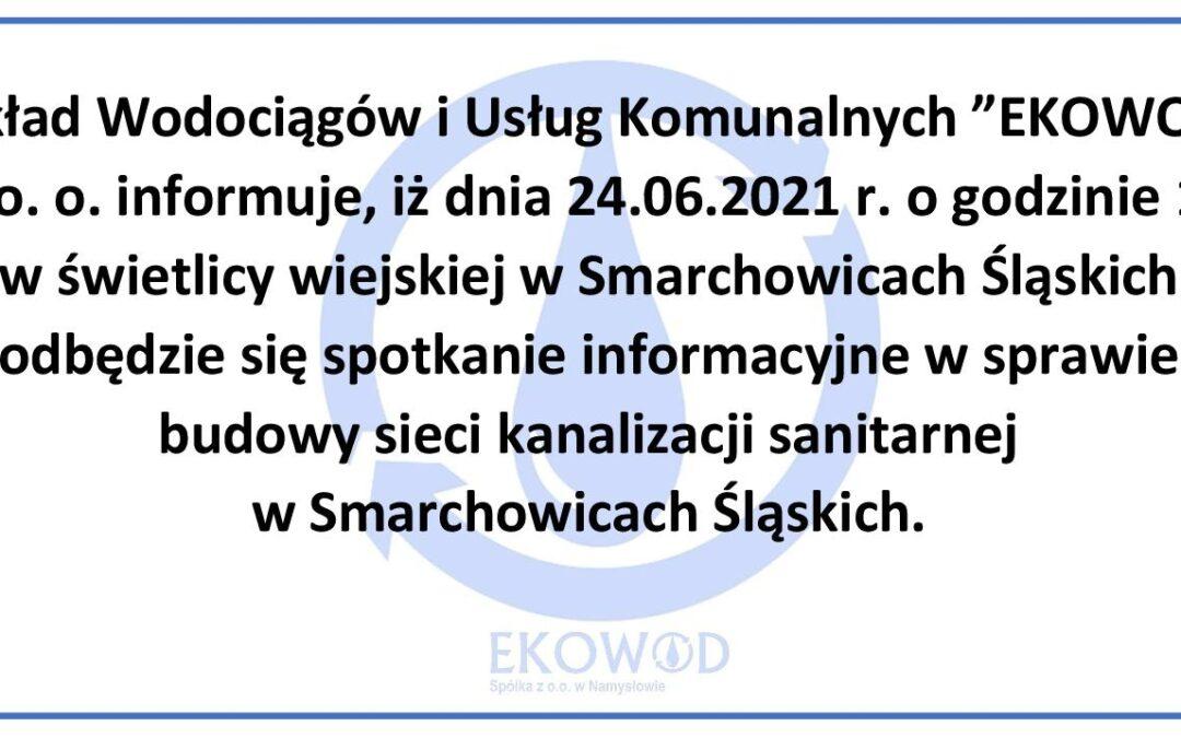 SPOTKANIE INFORMACYJNE W SMARCHOWICACH ŚLĄSKICH